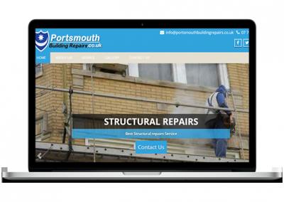Building Repairs Website Design