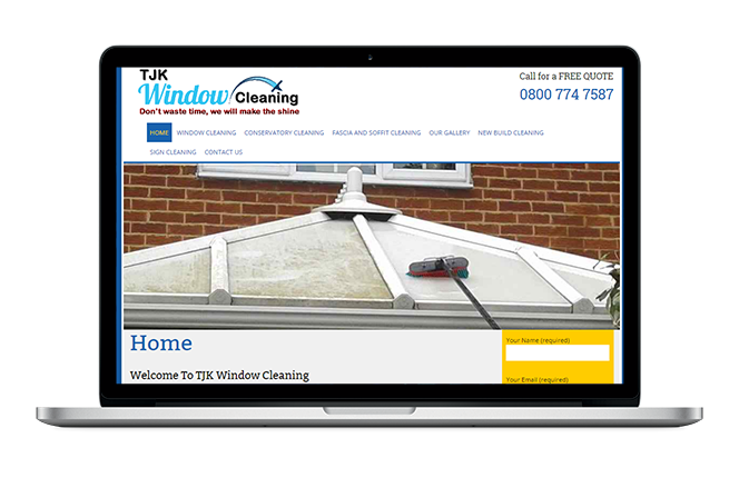 Windows Cleaning Website Design