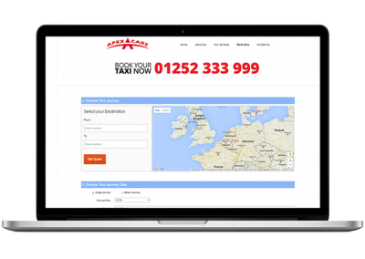 Taxi Calculator Website Design
