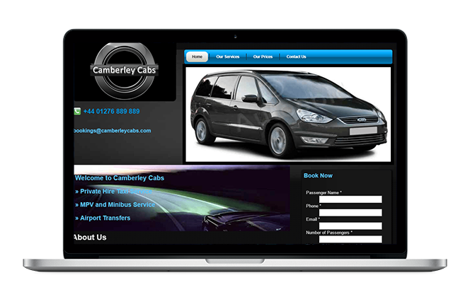 Minicab Website Design