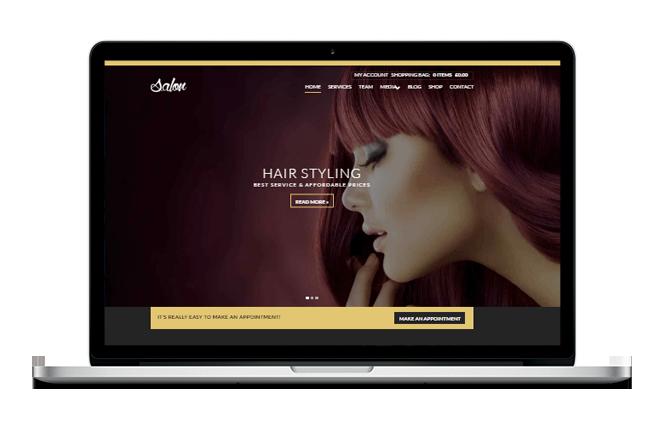 Salon Website Design