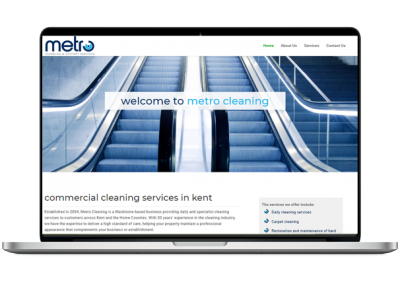 Cleaning Website Design