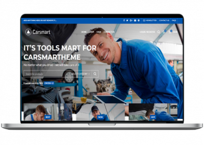 Car Shop Website Design