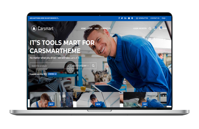 Car Shop Website Design