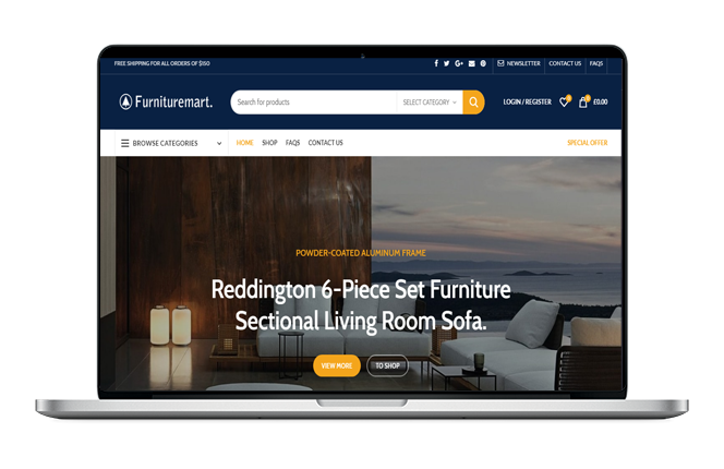 Furniture Market Website Design